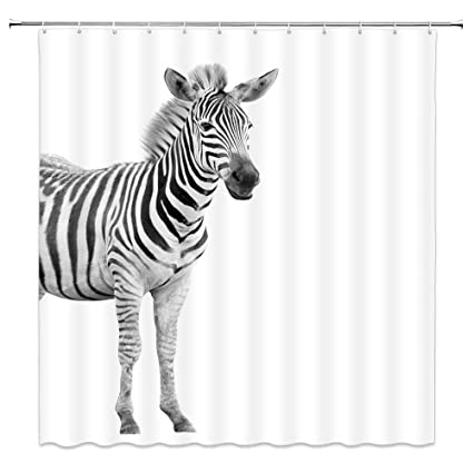 Anmial Printed Shower Curtain With Hooks Bathroom Waterproof Curtain Decor