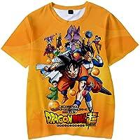 Dragon Ball T Shirt Cosplay de Modo Camiseta de Niño Manga Corta Son Goku Son Gohan 3D T Shirt Verano Corta Blusa