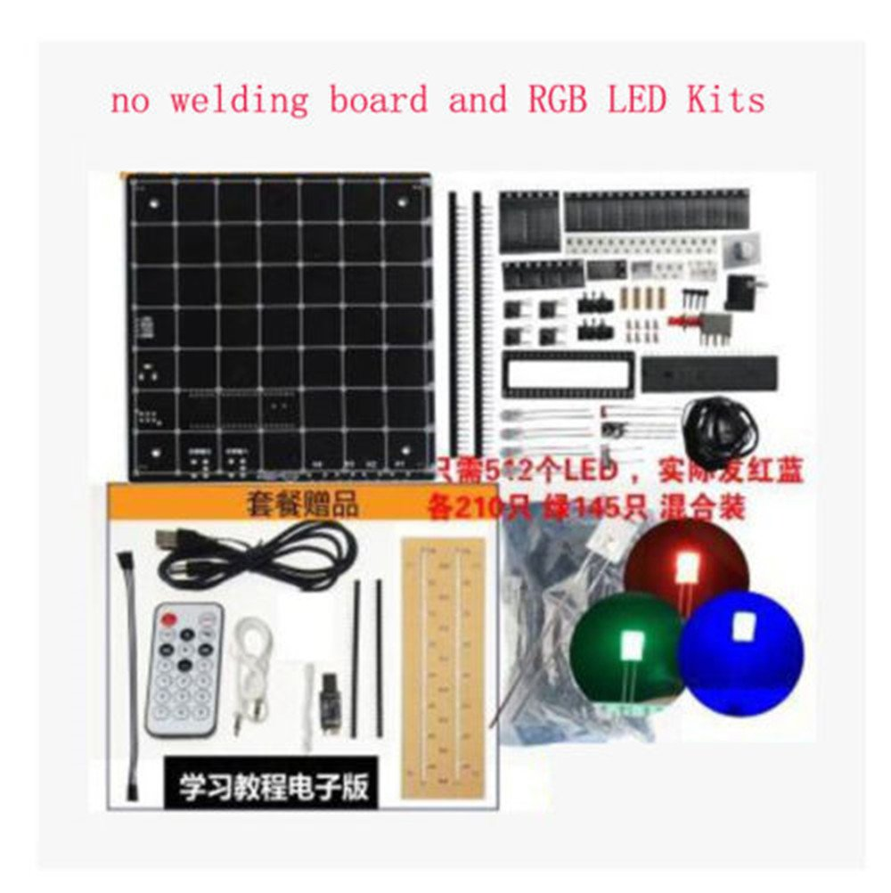 Dingdong Store Electronic Diy Kit 3d Squared Led Circuit Diagram Of 8x8x8 Rgb Cube Parts 5mm Red Green Blue Spectrum 8s Kits No