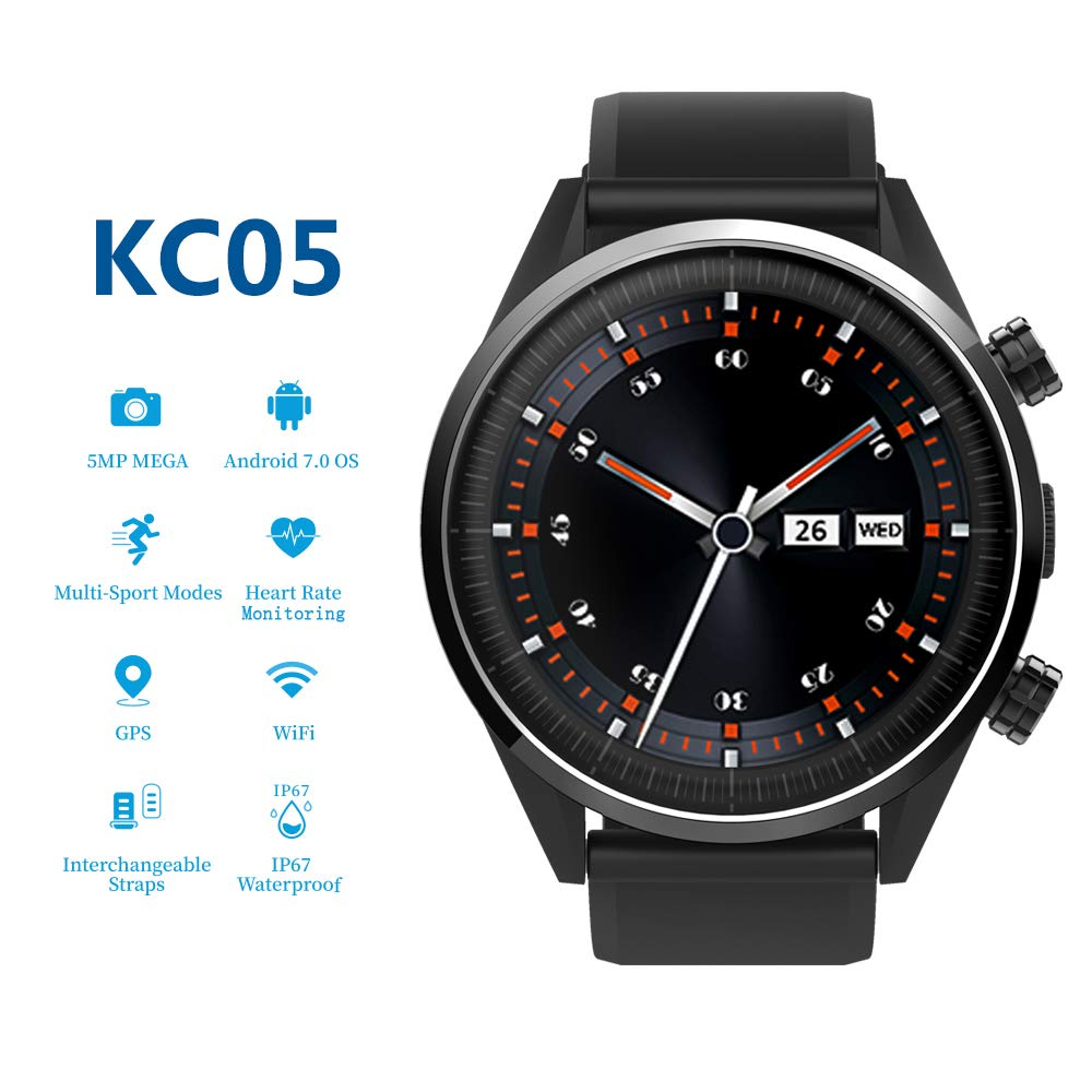Festnight KINGWEAR KC05 4G LTE Smart Watch Phone Android 7.1 ...