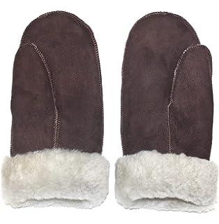 dicker Handschuh in echtem Lammfell für Damen