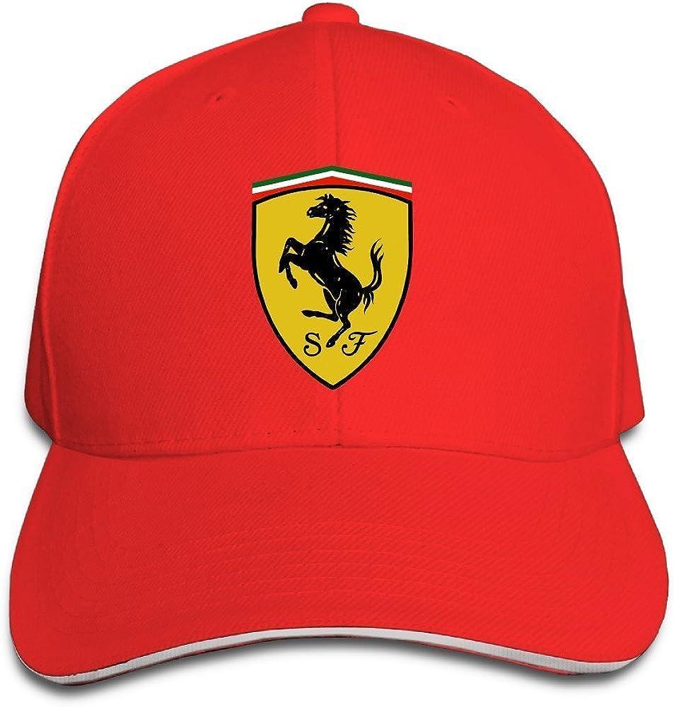 Gorra Ferrari Yhsuk de color rojo: Amazon.es: Ropa y accesorios