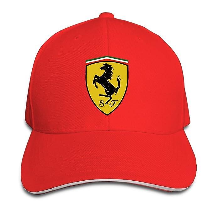 Gorra Ferrari Yhsuk de color rojo  Amazon.es  Ropa y accesorios 8cee961ab1d