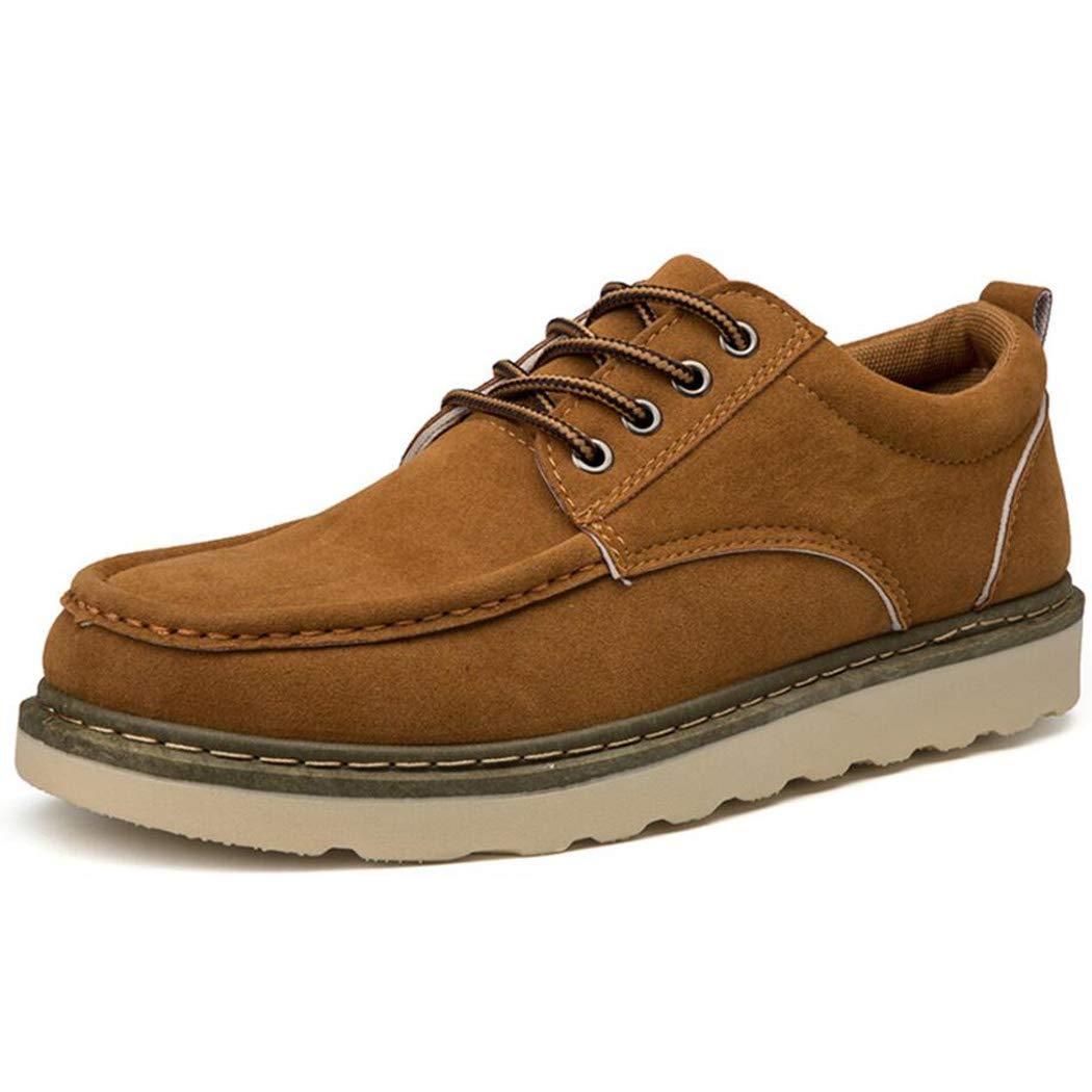 Zxcvb  Herren Geschäft Niedrig Hilfe Stiefel Leder wasserdicht Lace Up Winter Schuhe Anti-Rutsch-Knöchel Outdoor-Arbeit Wanderschuh