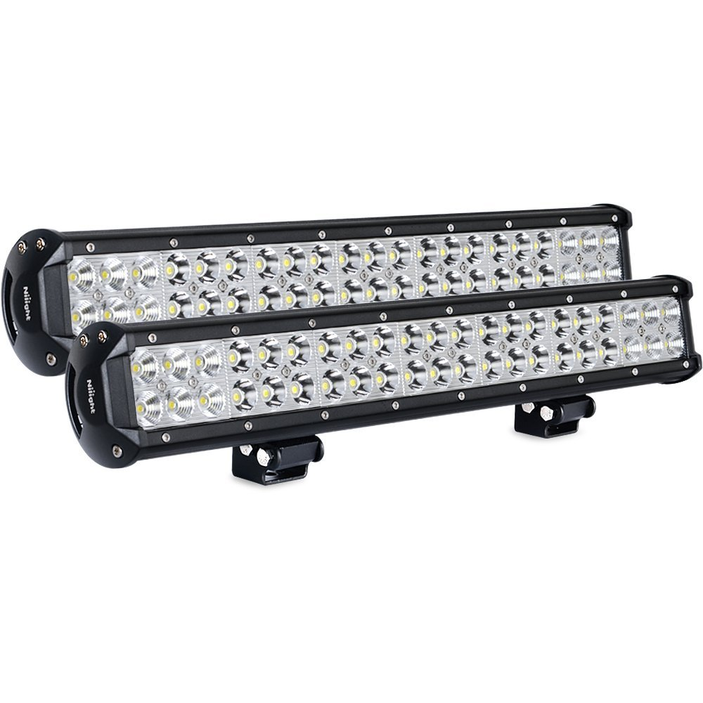 Nilight Light Bar 2pcs 20 Inch 126w Led Lights Spot Jeep Cj5 Cluster Wiring Flood Combo Off Road Driving Fog Boat Lighting Work