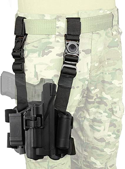 Pro-tech Tactical Leg Holster For Glock 17 19 22 23 31 33 38 With Tactical light