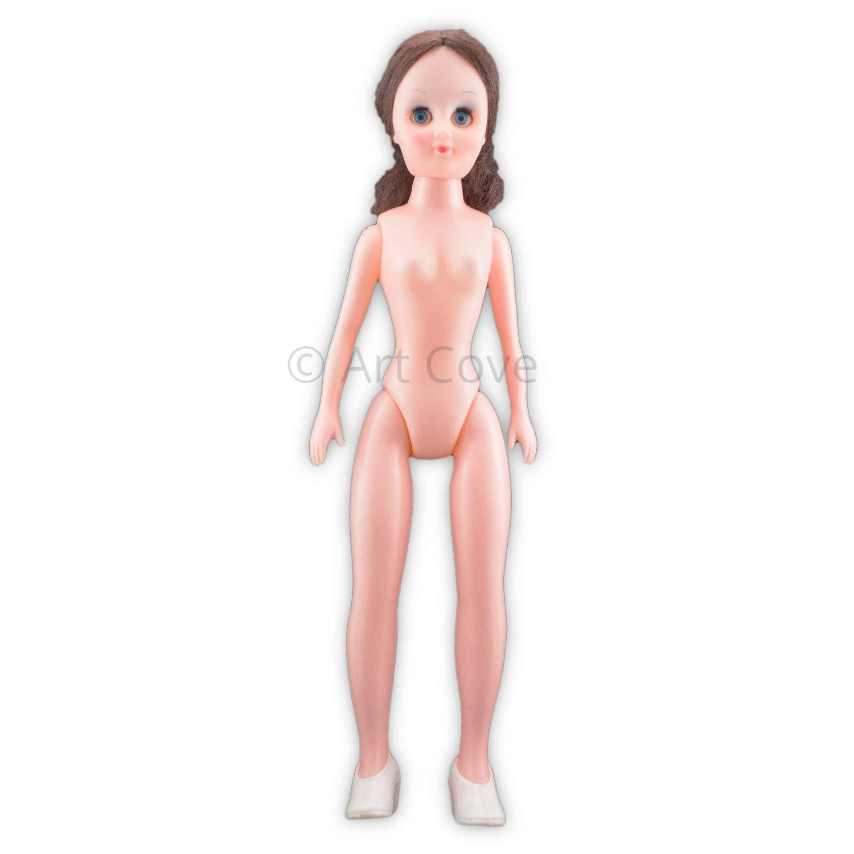 15 inch Large Plastic Craft Doll Black Hair 1 Piece