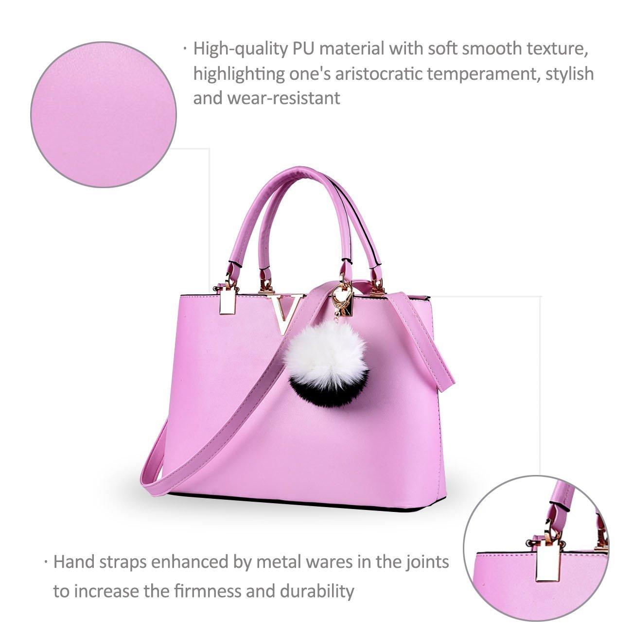 NICOLE & DORIS For Women's Casual Shoulder Cross Body Bags Spring 2017 Spring New Trends Minimal Fashion Handbags (Purple) by NICOLE & DORIS (Image #6)