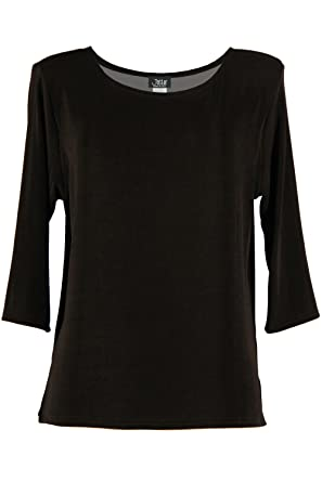 bb5a64585f0 Jostar Women s Acetate Image Top 3 4 Sleeve Plus at Amazon Women s Clothing  store