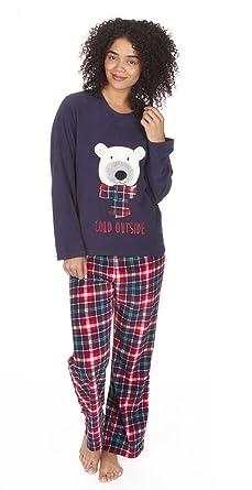 Ladies Christmas Fleece Pyjamas 38104da36