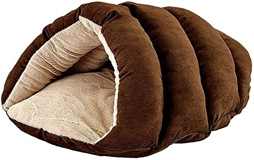 SPOT Ethical Pets Sleep Zone Cuddle Cave – 22 Chocolate – Pet Bed for Cats and Small Dogs – Attractive, Durable, Comfortable, Washable, Cuddle Cave Pet Bed, 22×17