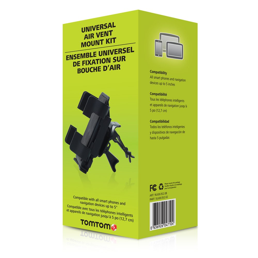 Universal Air Vent Mount Compatible with All GPS Brands TomTom 9UUB.052.08