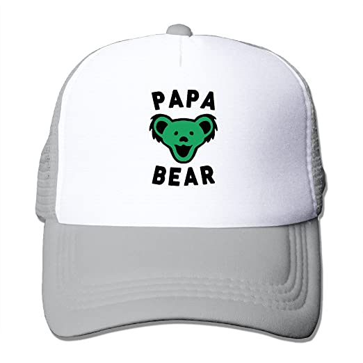 1aa31efeae3 Unisex Papa Bear Best Dad Ever Grateful Dead Adjustable Mesh Caps Visor Hats  at Amazon Men s Clothing store