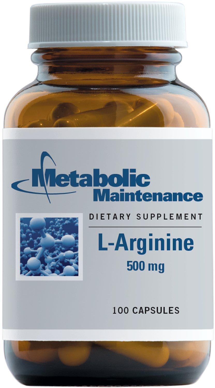 Metabolic Maintenance - L-Arginine - 500 MG, 100 Capsules