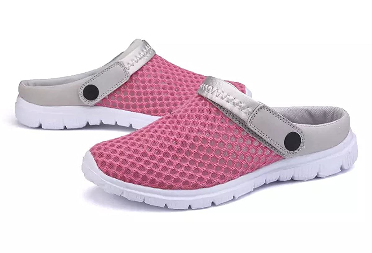 Yooeen Mesh Sandals Mens Womens Garden Clogs Breathable Summer Indoor Outdoor Slippers Lightweight Water Shoes Slip On Walking Beach Sports Slide Sandals with Drainage Holes