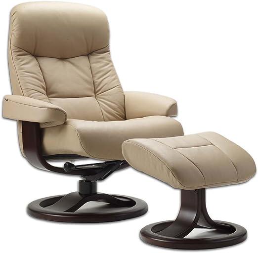 Amazon.com: piel Noruego ergonómico escandinavos Lounge ...