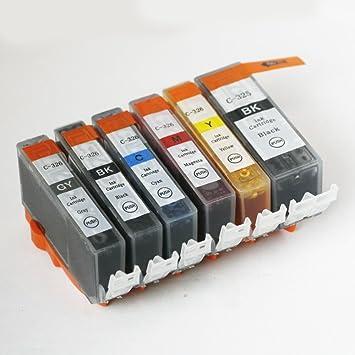 【クリックで詳細表示】【ホーリー】 CANON キャノン 【互換インク】 6色セット BCI-326+325/6MP ICチップ付