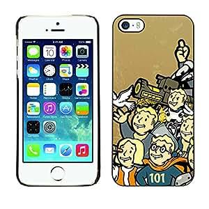 Stuss Case / Funda Carcasa protectora - Retro Bóveda Boy - iPhone 5 / 5S