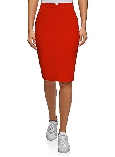 oodji Ultra Mujer Falda-Lápiz de Algodón: Amazon.es: Ropa y accesorios