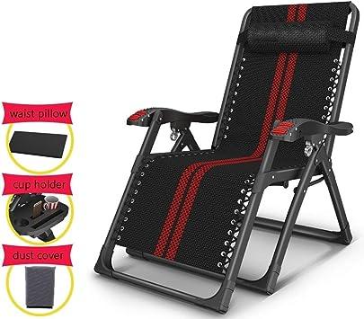 Silla plegable playa camping sillas jardin tumbona Sillas de jardín reclinables de gravedad cero, silla de jardín plegable portátil de gran tamaño para patio exterior para niños, hombres grandes, carg: Amazon.es: Deportes