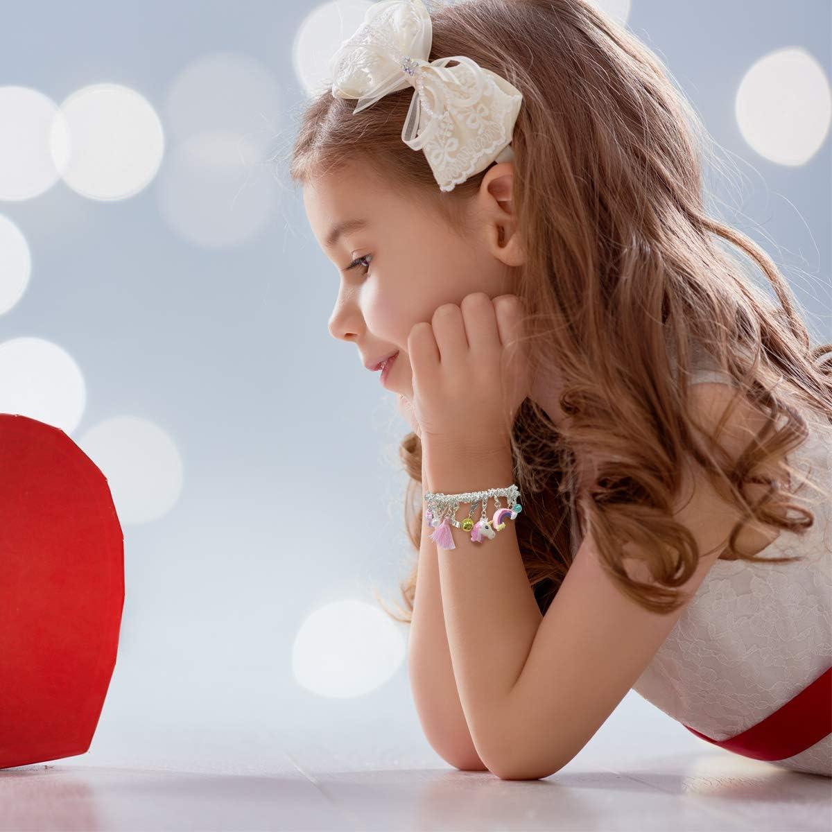 anniversaire amiti/é bracelet /à breloques avec 22 breloques plaqu/é argent cadeau pour fille adolescente Bracelet /à breloques pour fille bleu No/ël
