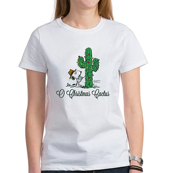 9747cf99ec1 Amazon.com  CafePress - O Christmas Cactus Women s T-Shirt - Womens ...