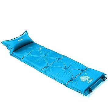 chanodug único colchoneta autohinchable mapa azul colchón ...