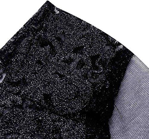 Abito qualità PW con ricamato argento poncho in di UTgxqRP