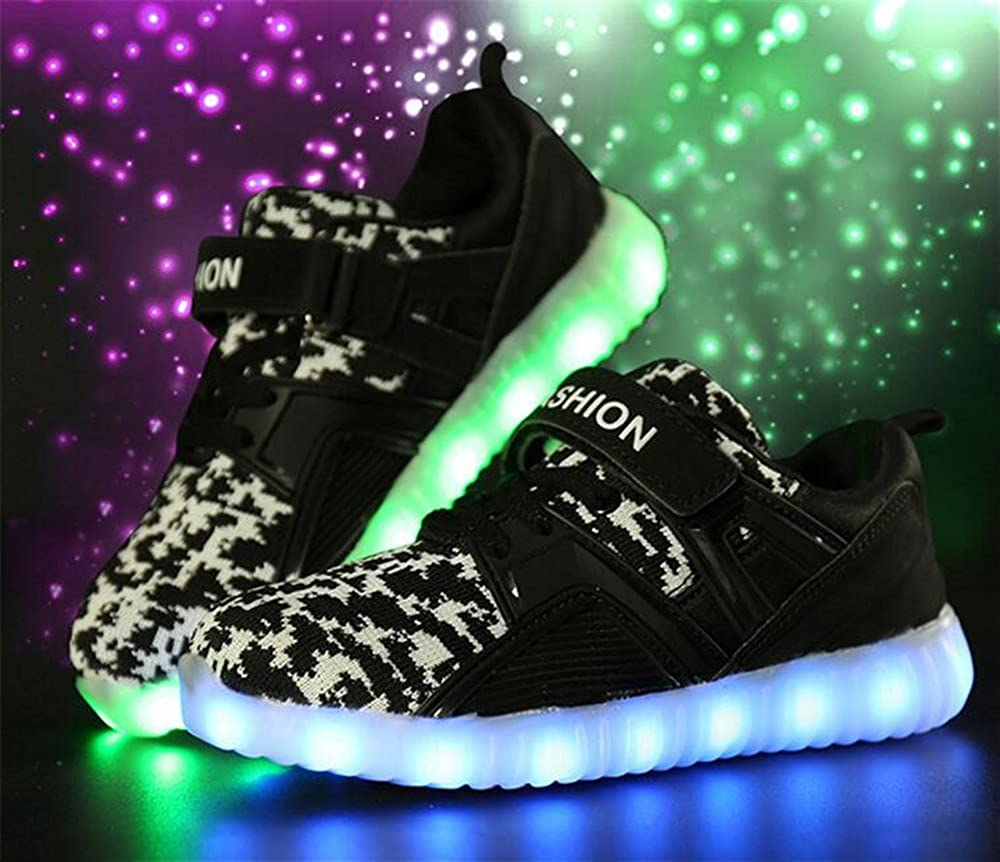 xiaoyang Kids LED Light Up Shoes for Girls Boys Flashing Sneakers with USB Charging