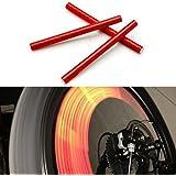 KaLaiXing brand Bicycle Wheel Spoke Reflector Reflective Safety Bicycle Bike Wheel Rim Mount Clip Tube Warning Strip--red