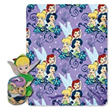 Disney, Tinkerbell, Autumn 40-Inch-by-50-Inch Fleece Blanket with Character Pillow by The Northwest Company