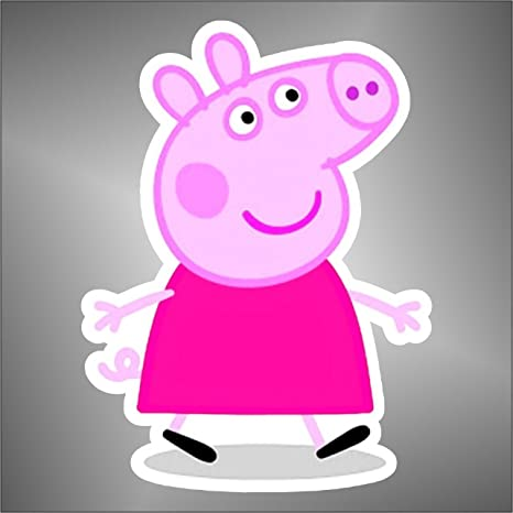 Adesivo peppa pig comics cartoon cartoni animati: amazon.it: casa e