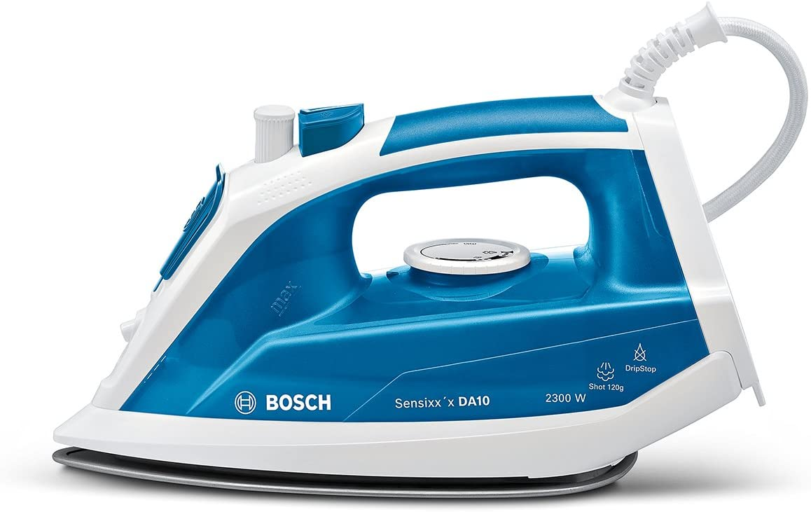 Bosch TDA1023010 Sensixx´x DA10 Plancha a vapor , 2300 W, color azul y blanco