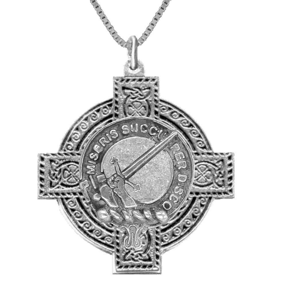 MacMillan Scottish Clan Celtic Cross Pendant ~ ALL CLANS