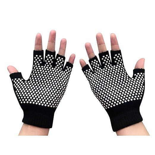 Gloves Sports Yoga Gloves Arthritis Gloves Anti Slip Soft Semi Half Finger Gloves