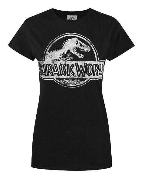 fe56d3d0442 Amazon.com  Official Jurassic World Distressed Logo Women s T-Shirt ...