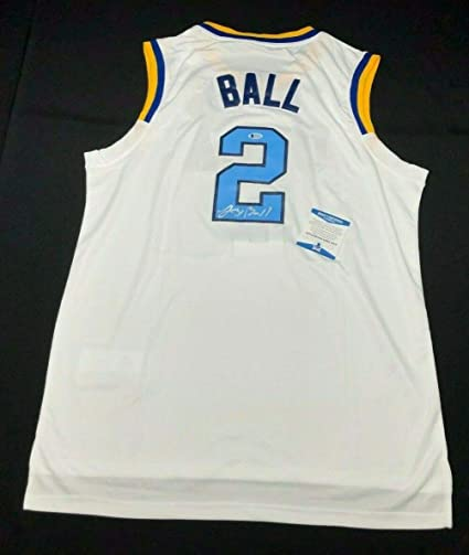 new york 1efe4 9935a Lonzo Ball Autographed Signed Memorabilia Ucla Bruins ...