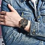 BENYAR Men's Analog Chronograph Quartz Watch Simple dial Fashion Casual Leather Watch,Waterproof 30m