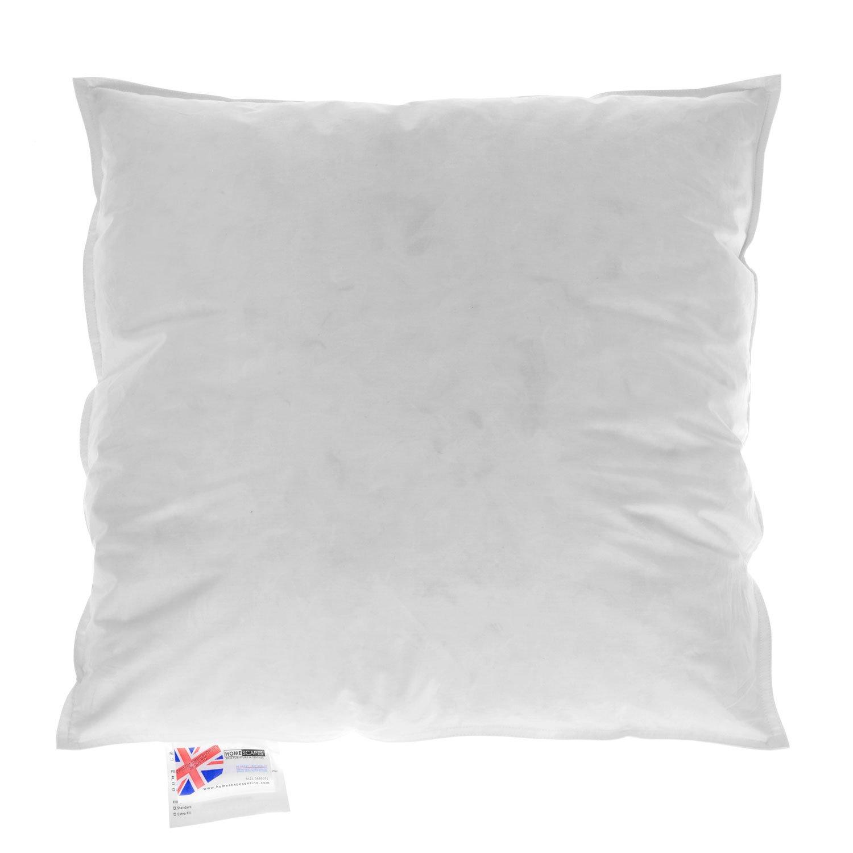 Homescapes Daunenkissen 70 x 70 cm Weiß, Innenkissen mit natürlicher Kissenfüllung aus 100% Gänsedaunen mit Inlett aus 100% Baumwolle