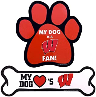 product image for NCAA Wisconsin Badgers Paw Print Car Magnet