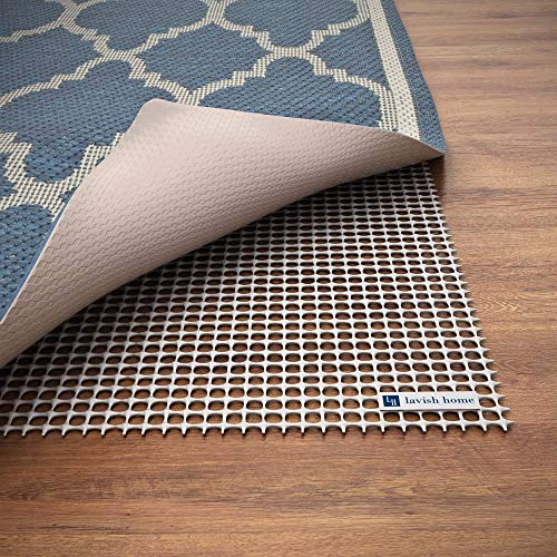 Non Slip Rug Pad- Rubber Non Skid Gripper for Runners on Hard Surfaces and Wood Floors (2' x 8')- Trim to Fit Multiple Rug Sizes By Lavish Home