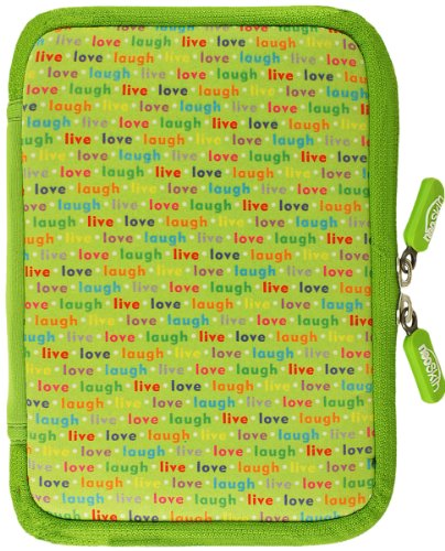 NeoSkin Kindle Zip Sleeve, Live, Love, Laugh (Fits Kindle and Kindle Paperwhite, Neoprene Kindle Cover, Kindle Case)