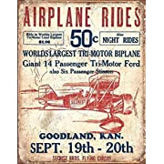 Poster Revolution Secrist Flying Circus - Airplane Rides Tin Sign 13 x 16in