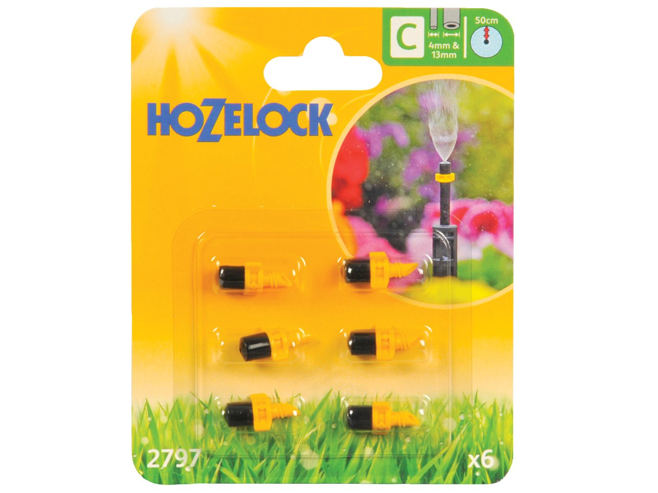 Hozelock Mister Micro Jet, 4/13 mm - Pack of 6 HOZ2797