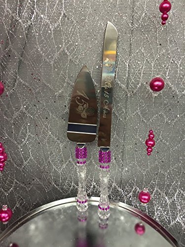Amazon.com : Purple Mis Quince Sweet 15 Cake Knife And ...