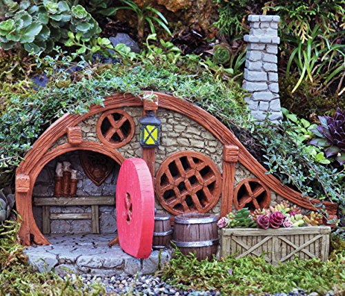 Georgetown home garden miniature red root bungalow house for Garden accessories online