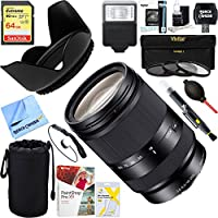 Sony (SEL18200LE) Zoom E-Mount lens - 18mm- 200 mm - f/3.5-5.6 OSS + 64GB Ultimate Filter & Flash Photography Bundle