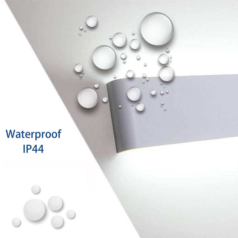 Yissvic Wandbeleuchtung Wandleuchte 20W LED Wandlampe Spiegelleuchte Badlampe Wasserdicht IP44 Up und Down 2800K Warmwei/ß