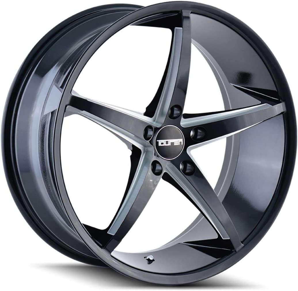 TOUREN TR70 Wheel with Black/Milled Spokes (18 x 8. inches /5 x 72 mm, 40 mm Offset