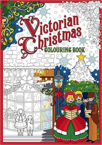 amazoncom victorian christmas colouring book 9781841657424 the history press books